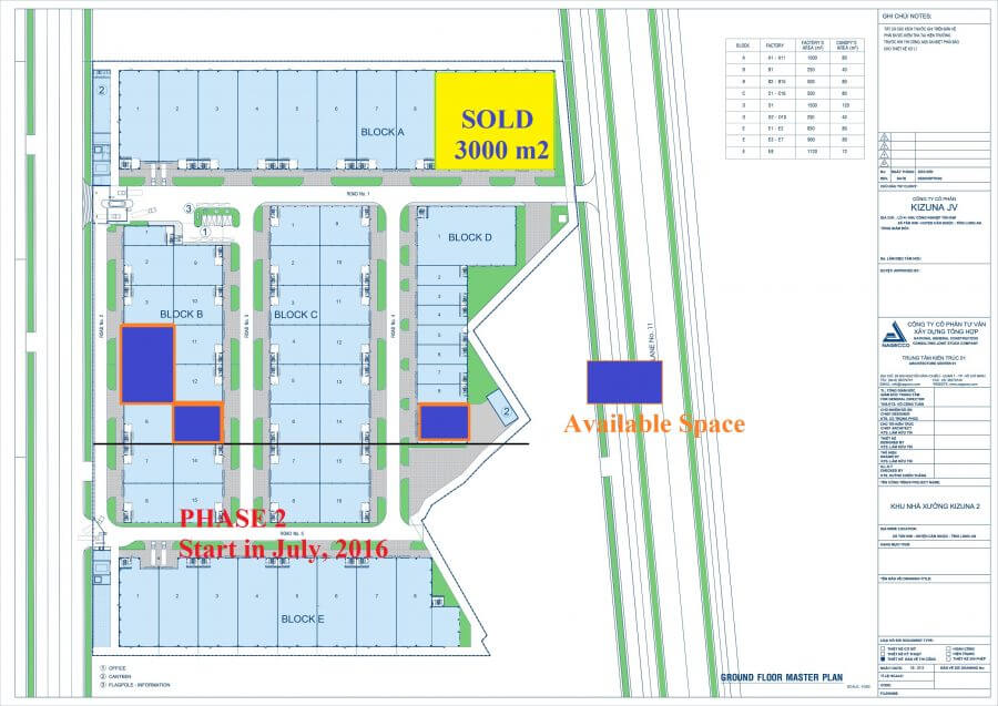 Master Plan of Kizuna Rental Serviced Factory