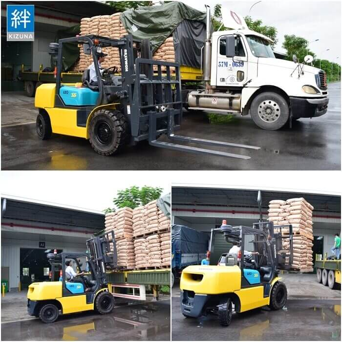 Forklift Rental Service Supplied by Kizuna Rental Serviced Factory