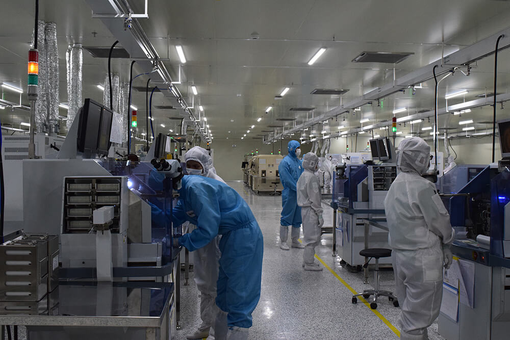 Factory of ITSWELL, an enterprise producing electronic components in Kizuna