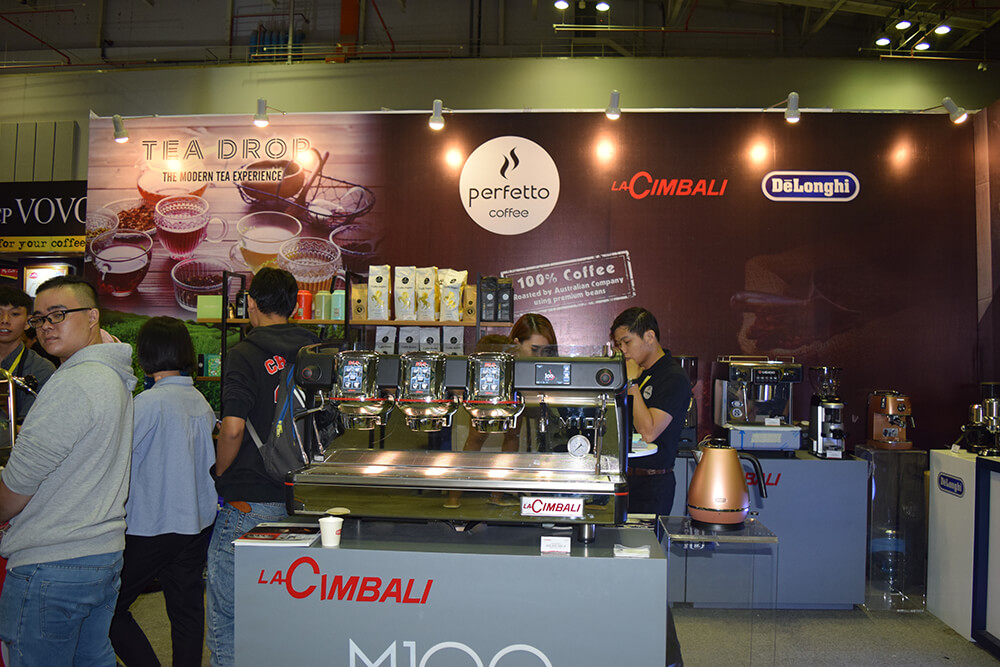 Perfetto booth at the Cafe Show 2017