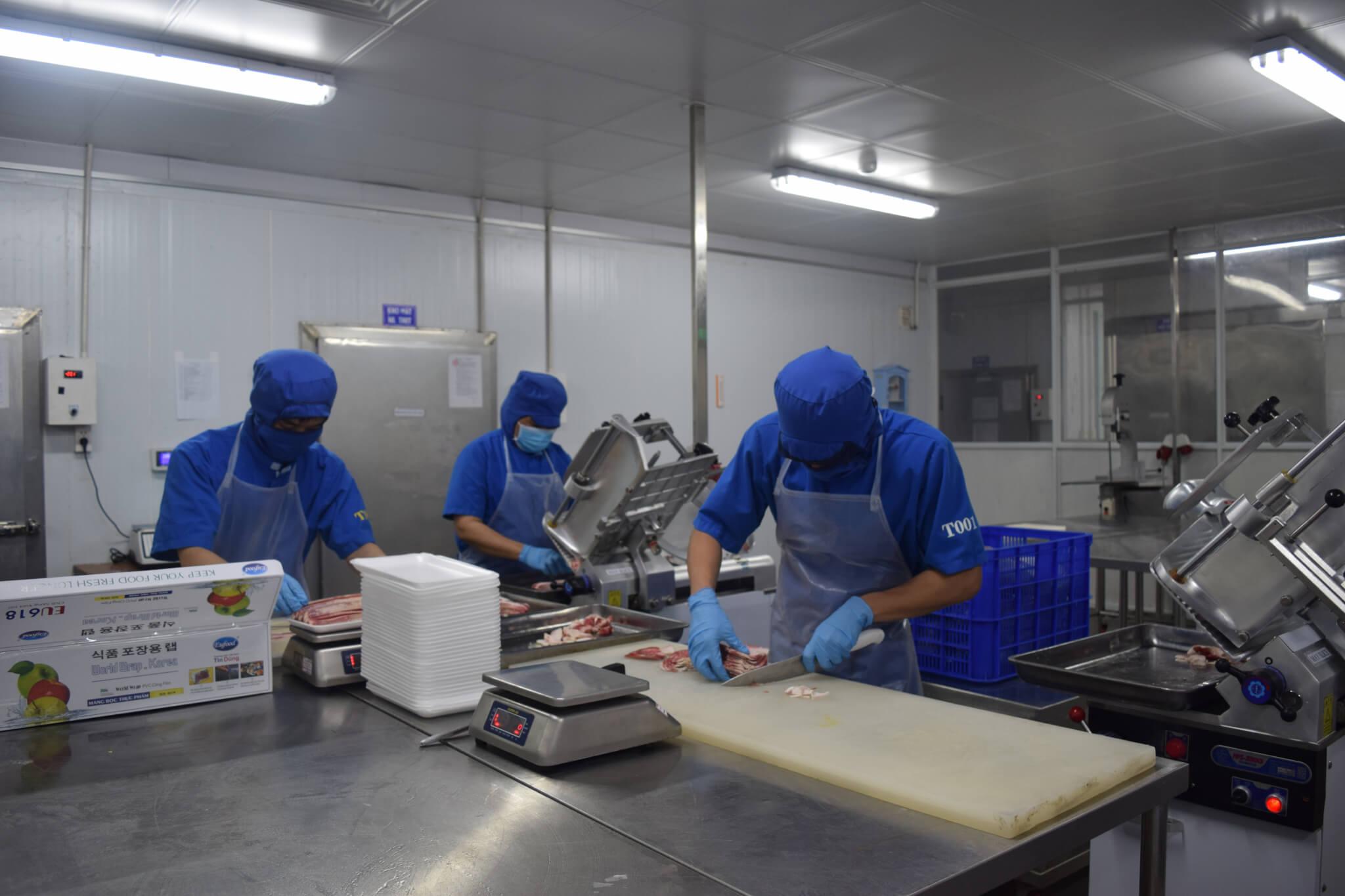Khu chế biến thịt tại NPF