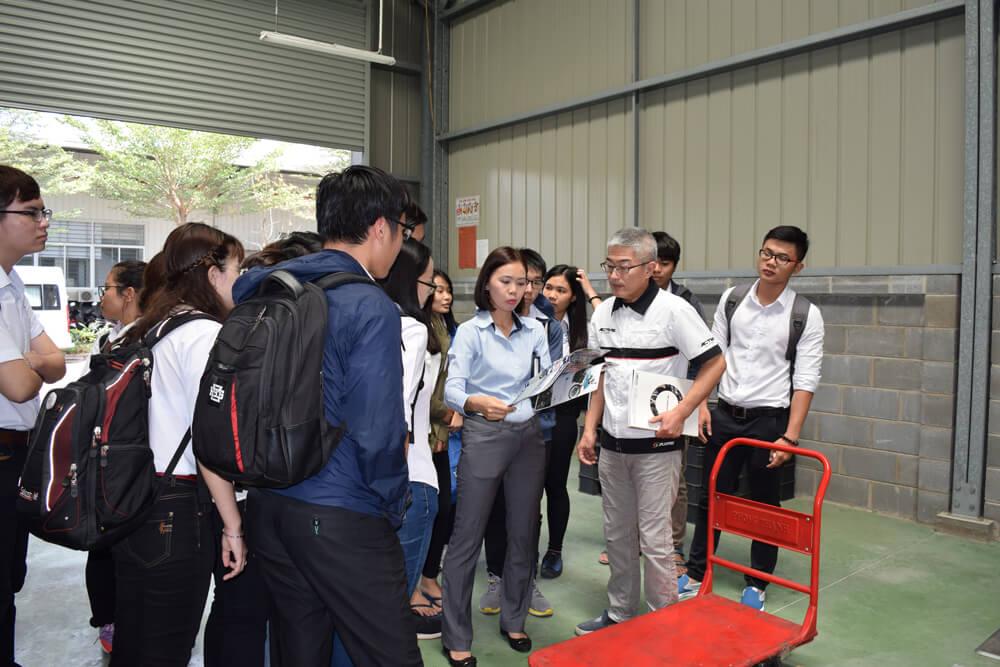 Experience day of Bach Khoa University at Kizuna Serviced Factory